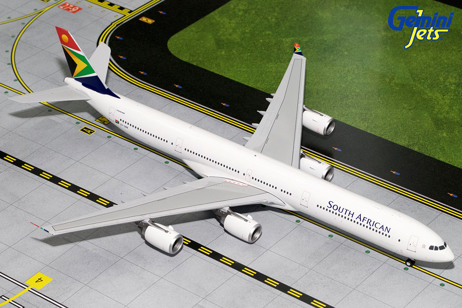 South African A340-600 ZS-SNB (1:200) by GeminiJets 200 Diecast